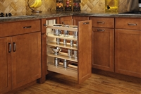 Base Organizer Under Mount Soft Close Wood Pull Out - Maple