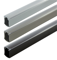 8' Aluminum Concave Closet Rod and Supports