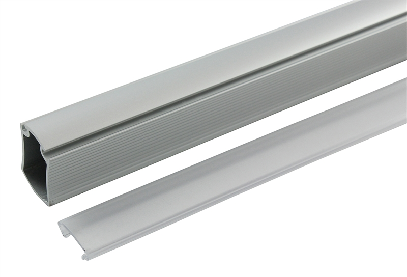8 Aluminum Concave Closet Rod And Supports