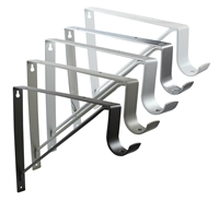 "Rod Support and Shelf Bracket for Round Rod (up to 1 5/16"")"