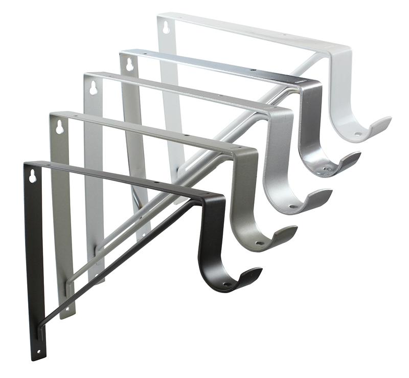 Rod Support And Shelf Bracket For Round Rod Up To 1 5 16