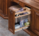 "Vanity Grooming Organizer Under Mount Soft Close Pull Out (8"" W x 19 9/16"" D) - Maple"