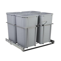 Quad Pull Out Waste Container BB Soft Close
