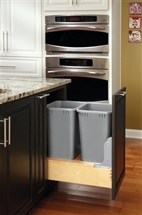 Rev-A-Motion Door Mount Double Waste Containers - Maple