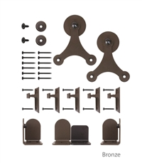 Steel Round Atlantis Series Short Bracket Hardware Kit for Wood Barn Doors