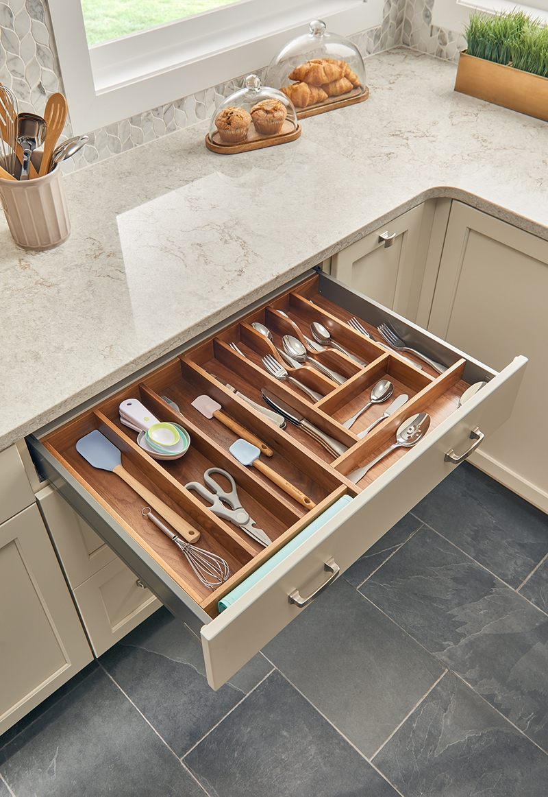 Insert Cutlery Tray For Drawers Walnut