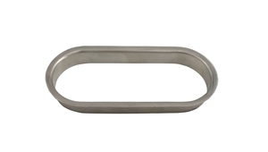 "Oval Trash Grommet 6"" x 2 1/2"" x 3/4"" - Brushed Stainless Steel"