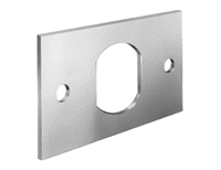 "Flat Mounting Plate for Cylinder Cam Locks 2-3/16"" x 1-1/4"""