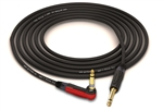 "Gotham GAC-1 Ultra Pro 90º Right-Angle Silent Instrument Cable | Guitar Bass & Keyboard w/ Neutrik Gold 1/4"" TS Connectors"