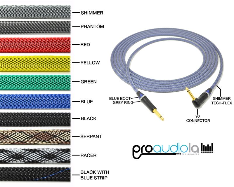 "Gotham GAC-1 Ultra Pro Instrument Cable Neutrik Gold 1//4 TS/""Blue Boots 4 Ft."