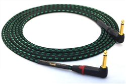 "Evidence Audio Lyric HG Instrument Cable | Guitar Bass & Keyboard w/ Neutrik Gold 90º Right-Angle 1/4"" TS Connectors"