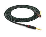 "Evidence Audio Lyric HG Instrument Cable | Guitar Bass & Keyboard w/ Neutrik Gold Straight 1/4"" TS to 90º Right-Angle Silent 1/4"" TS"