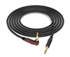 "Neutrik Silent Instrument Cable | Guitar Bass & Keyboard | Made from Mogami 2524 & Neutrik Gold 90º Right-Angle Silent 1/4"" TS Connector"