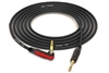"Canare Quad L-4E6S Instrument Cable with Neutrik Gold | Silent 90º Right-Angle 1/4"" TS to Straight 1/4"" TS"