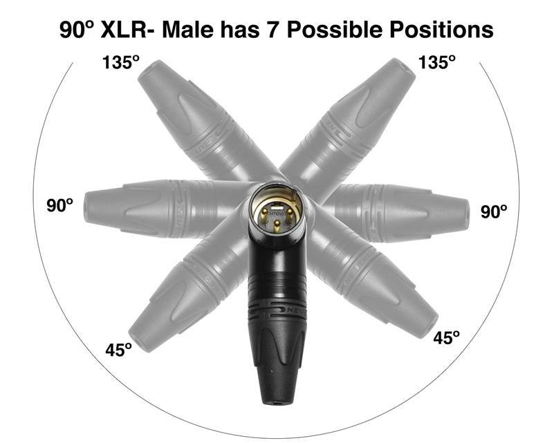 Canare Quad L-4E6S Balanced Cable with Neutrik Gold | 90º Right-Angle 1/4