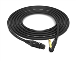 "Canare Quad L-4E6S Cable with Neutrik Gold | Straight XLR-Female to Unbalanced 90º Right-Angle 1/4"" TS"