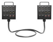 Dual 12-Channel Studio Wall Box / Stage Box | Made from Mogami 2933 & Neutrik Gold Connectors