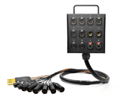 12-Channel Studio Wall Box / Stage Box | Made from Mogami 2933 & Neutrik Gold Connectors | Standard Finish