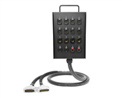 16-Channel Studio Wall Box / Stage Box to Dual DB25 | Made from Mogami 2934 | Premium Finish