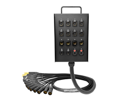 16-Channel Studio Wall Box / Stage Box | Made from Mogami 2934 & Neutrik Gold Connectors | Premium Finish