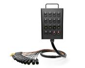16-Channel Studio Wall Box / Stage Box | Made from Mogami 2934 & Neutrik Gold Connectors | Standard Finish