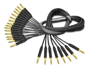 "8-Channel Insert Cable | Made from Mogami 2934 & Neutrik Gold | 8 x 1/4"" TRS to 16 x 1/4"" TS"