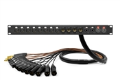 16-Channel Studio Rack Panel | Made from Mogami 2934 & Neutrik Gold Connectors