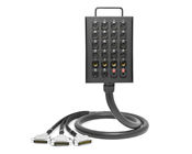 24-Channel Studio Wall Box / Stage Box to Triple DB25 | Made from Mogami 2936 | Premium Finish