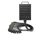 24-Channel Studio Wall Box / Stage Box | Made from Mogami 2936 & Neutrik Gold Connectors | Premium Finish