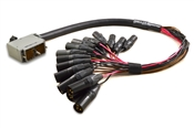 Analog 90-Pin Elco Male to XLR-Male Cable | Made from Mogami 2936 & Neutrik Gold Connectors | Standard Finish