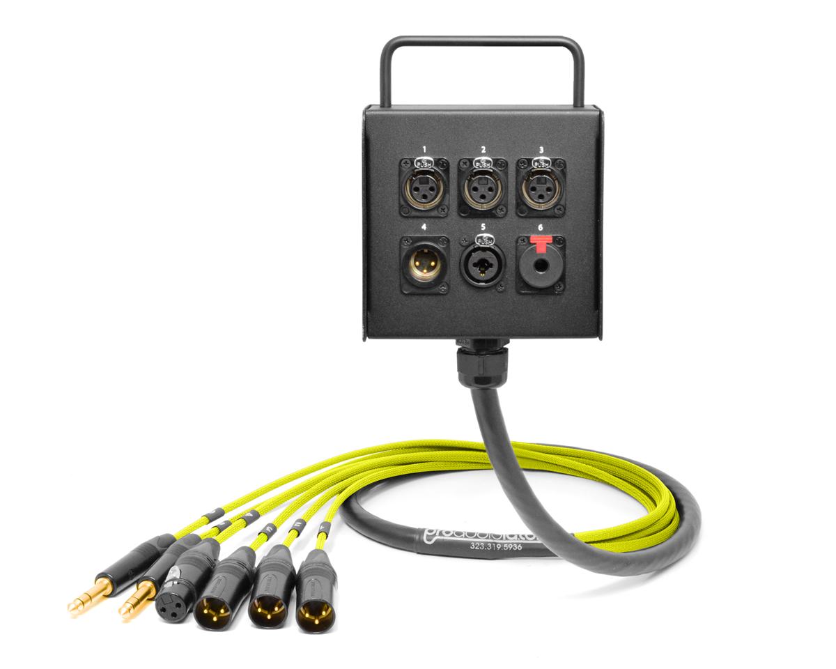 6 Channel Studio Wall Box Stage Made From Mogami 2932 Wiring Neutrik Xlr Connectors Base Price 22700