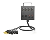 8-Channel Studio Wall Box / Stage Box | Made from Grimm TPR8 & Neutrik Gold Connectors | Standard Finish