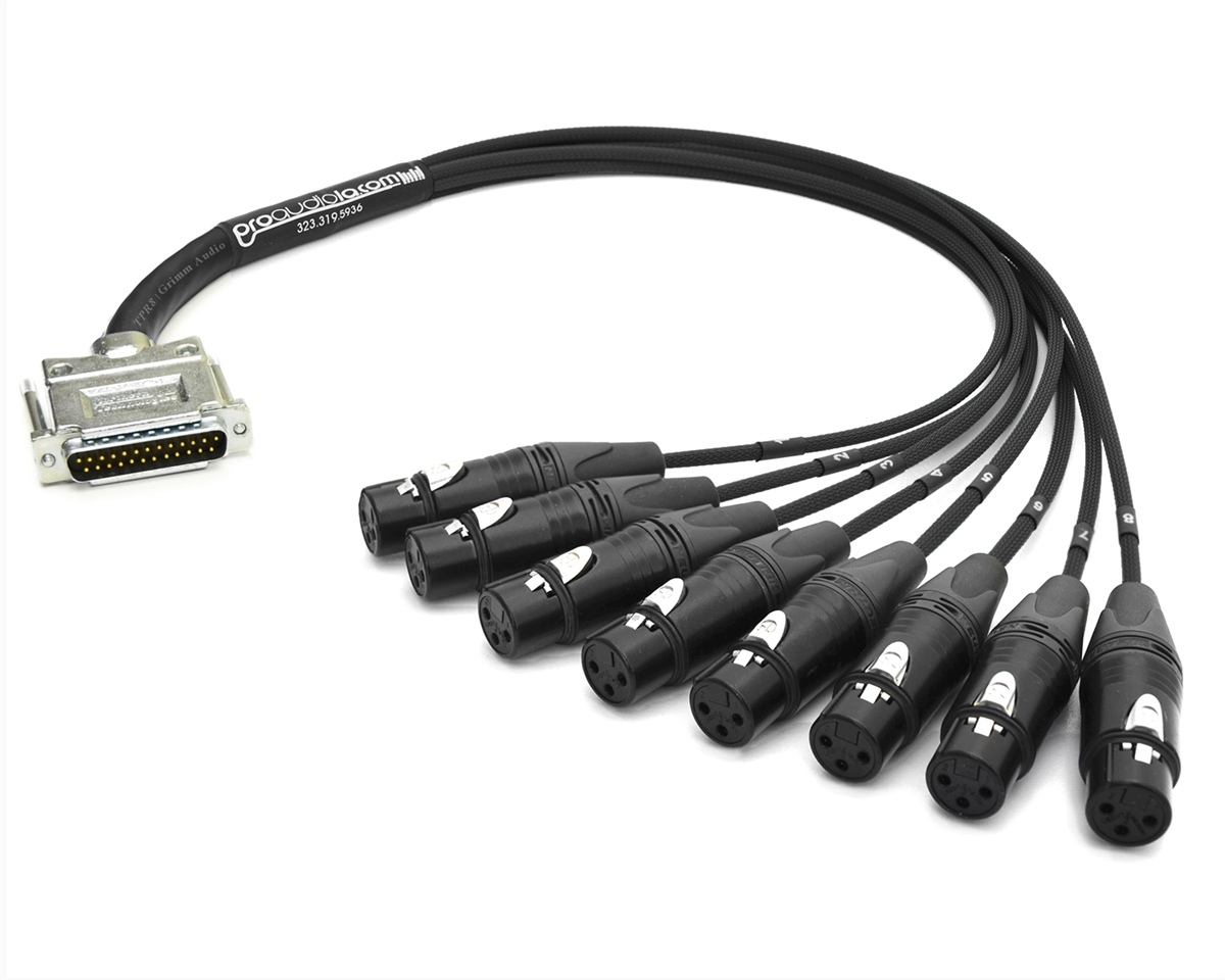 Analog DB25 to XLR-Female Snake Cable | Made from Grimm TPR8 ...