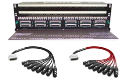 Configure Your Own Audio Accessories 96 Point TT & DB25 Patchbay with Custom Mogami & Neutrik Gold Cabling