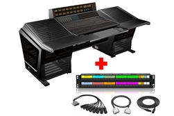 API 1608-II | 16 Channel Console (Unloaded + Automation) with Sterling Modular Desk and Patchbay & Cabling Package