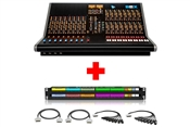API The Box 2 | 24 Channel Recording / Mixing Console with Patchbay & Cabling Package