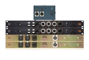 BAE 1023 | 2 Single Channel Mic Pres + Equalizer with PSU | Stereo Pair (Black)