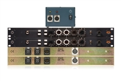 BAE 1073 | 2 Single Channel Mic Pres + Equalizer with PSU | Stereo Pair (Black)