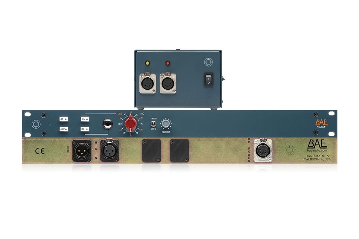 BAE 1073MPF Single-Channel Microphone Pre-Amplifier with PSU