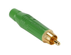 Amphenol ACPR-GRN RCA Male Gold Connector