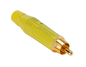 Amphenol ACPR-YEL RCA Male Gold Connector