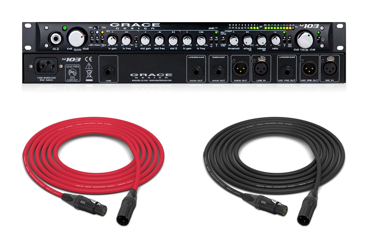 Grace Design M103 Channel Strip | Mic Pre / 3 Band Equalizer / Optical  Compressor