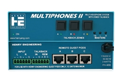 Henry Engineering MultiPhones II | Multi-User Distributed Headphones System Master Unit