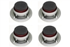IsoAcoustics Stage 1 | Isolators for Guitar Amps, Cabinets, and Subwoofers (Set of 4)
