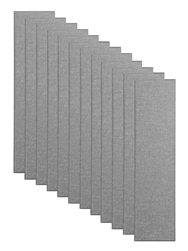 "Primacoustic Broadway 2"" Control Column Acoustic Wall Panel 12-pack - Grey w/ Beveled Edge"