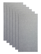 "Primacoustic Broadway 2"" Broadband Absorber Acoustic Wall Panel 6-pack - Grey w/ Beveled Edge"