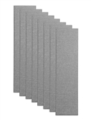 "Primacoustic Broadway 3"" Control Column Acoustic Wall Panel 8-pack - Grey w/ Beveled Edge"