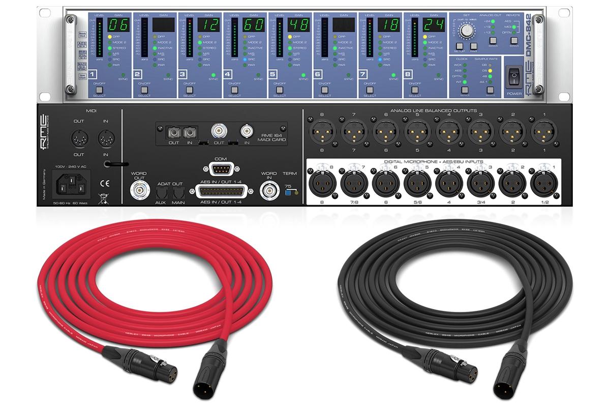 RME DMC-842 | 8 Ch  24 Bit/192 kHz Remote Controllable Digital Mic Preamp