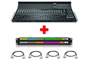 SSL XL-Desk Console (Unloaded) with Patchbay & Cabling Package | 24x8x2 Mixing