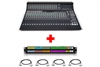 SSL XL-Desk | 24x8x2 Mixing Console (Loaded) with Patchbay & Cabling Package